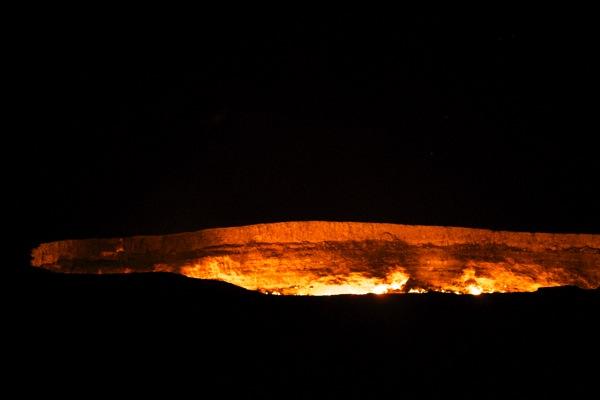 Turkmenistan  Darwaza Gas Crater 46